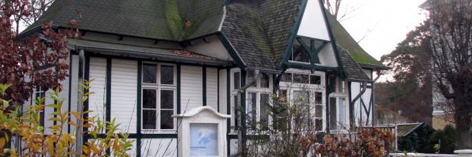 Nette Architektur an der Ostseeküste